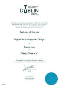 Batchelor of Science Degree in Digital Technology & Design - passed with distinction in 2019