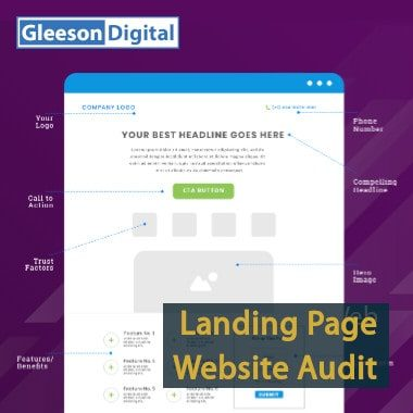 landing page website audit gleeson digital
