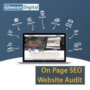 on page seo website audit gleeson digital