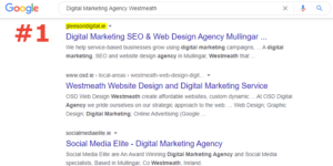 SEO number 1 ranking digital marketing agency westmeath
