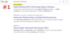 SEO number 1 ranking SEO Agency westmeath